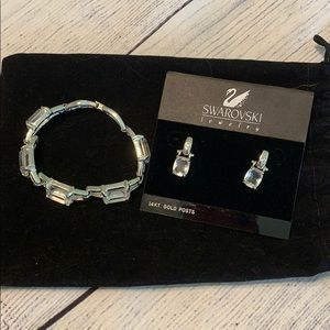 Swarovski Earrings and Bracelet Set
